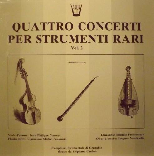 Quattro concerti per strumenti rari, Vol.2 - Konzertsuite, Concerto in La magg.  TELEMANN GEORG PHILIP