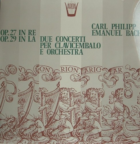 Concerto  per clavicembalo n.27 e n.29  BACH CARL PHILIPP EMANUEL