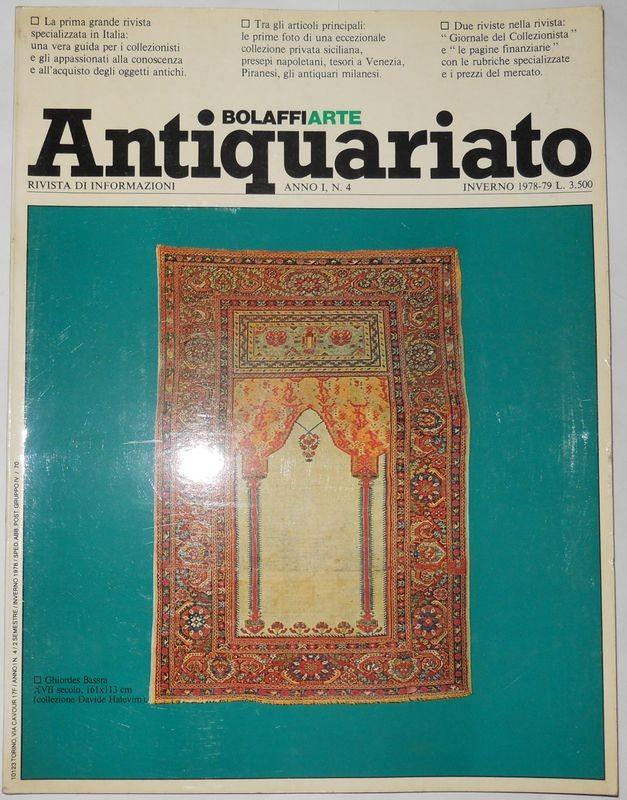 BOLAFFI ANTIQUARIATO. Anno 1, N. 4