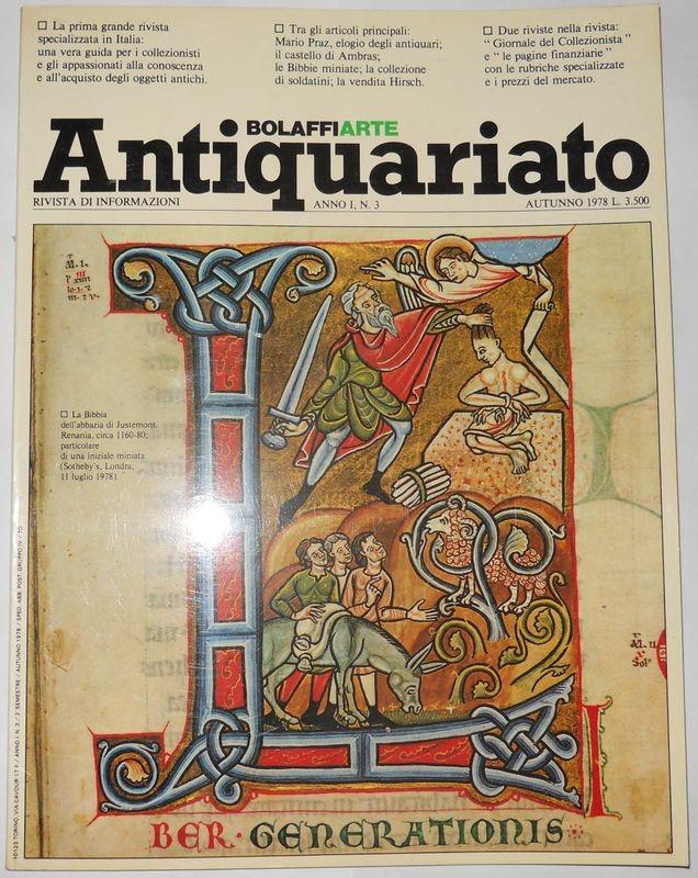 BOLAFFI ANTIQUARIATO. Anno 1, N. 3