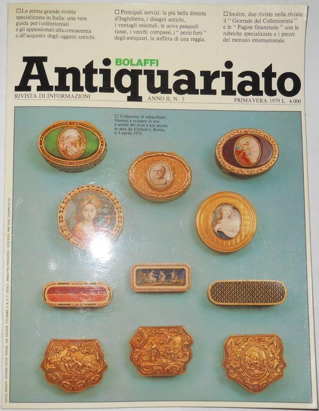 BOLAFFI ANTIQUARIATO. Anno 2, N. 5
