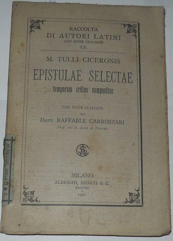 Epistulae Selectae. Temporum ordine compositae.
