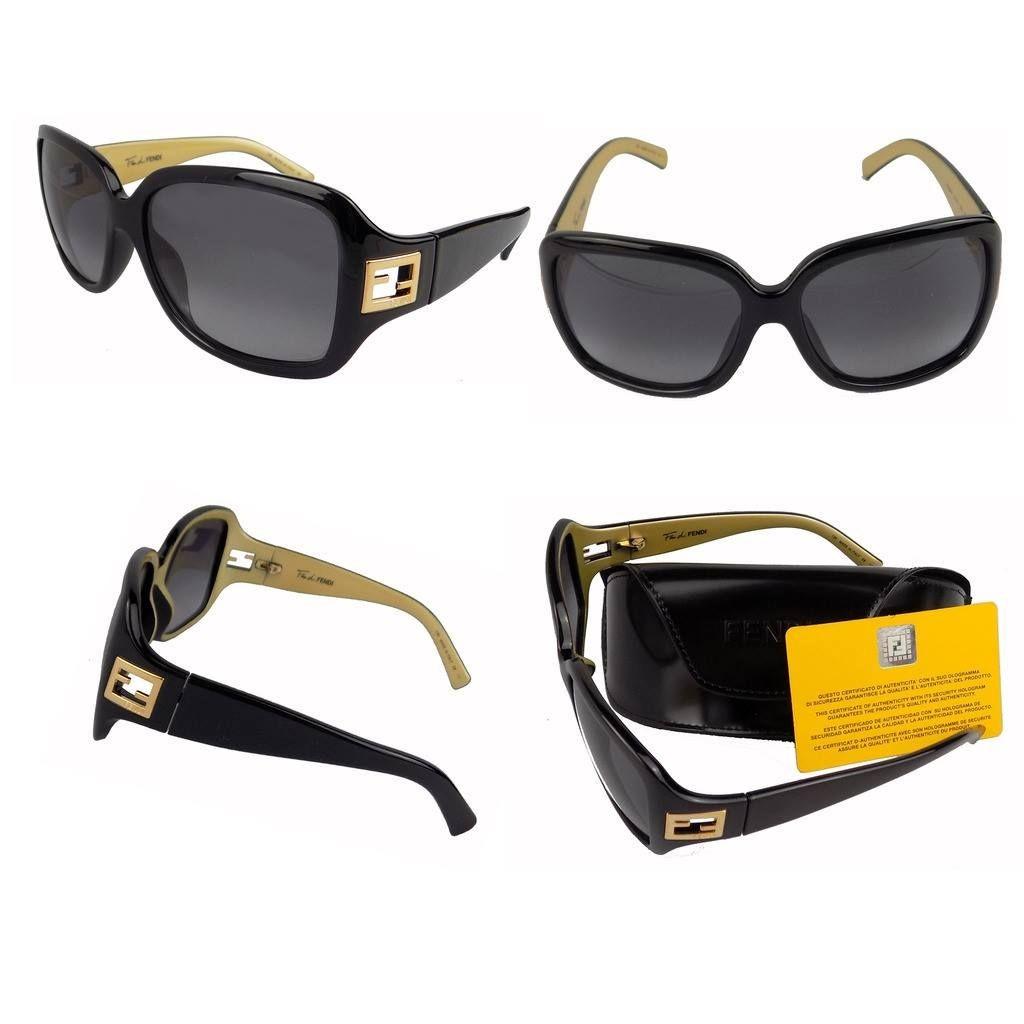 FENDI Occhiali da Sole BLACK/GOLD 5206FF 003. Pacco regalo gratuito
