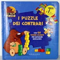 LIBRI PER BAMBINI 6 PUZZLE I CONTRARI C/54 TESSERE COLORATE GRIBAUDO
