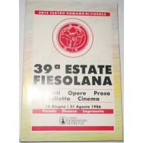 39 Estate Fiesolana 18 Giugno / 31 Agosto 1986