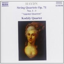 "String Quartets Op. 71 Nos. 1 - 3 ""Apponnyi Quartets""  HAYDN FRANZ JOSEPH"