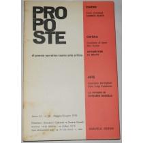 Proposte di poesia narrativa teatro arte critica. Anno III – n. 15 – Maggio/Giugno 1970