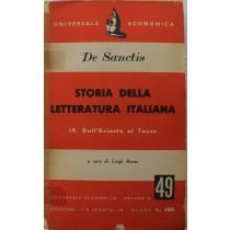Storia della letteratura italiana. IV. Dall'Ariosto al Tasso,Francesco De sanctis,Universale economica
